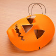 Stock Photo: Orange scary halloween mask as holiday concept