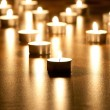 Many burning candles with shallow depth of field — Stock Photo #4614534