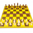 Chess figures isolated on the white background — Stock Photo #4615395