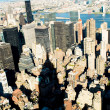 New York city panorama with tall skyscrapers — Foto Stock