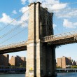 brooklyn bridge in new york on bright summer day — Stock Photo #4616823