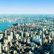 New york city panorama met hoge wolkenkrabbers — Stockfoto