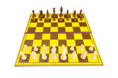 Chess figures isolated on the white background — Foto Stock