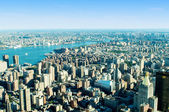 New York city panorama with tall skyscrapers — Stock Photo