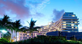 Panorama of the hotel near sea side — Stock Photo