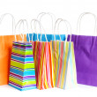 Shopping bags isolated on the white background - Stok fotoraf