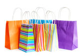 Shopping bags isolated on the white background — Foto de Stock