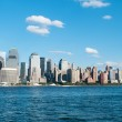 new york city - 4 sep - panorama med skyskrapor — Stockfoto