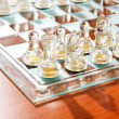 Set of chess figures on the playing board — ストック写真