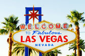 Famous Las Vegas sign on bright sunny day — Stock Photo