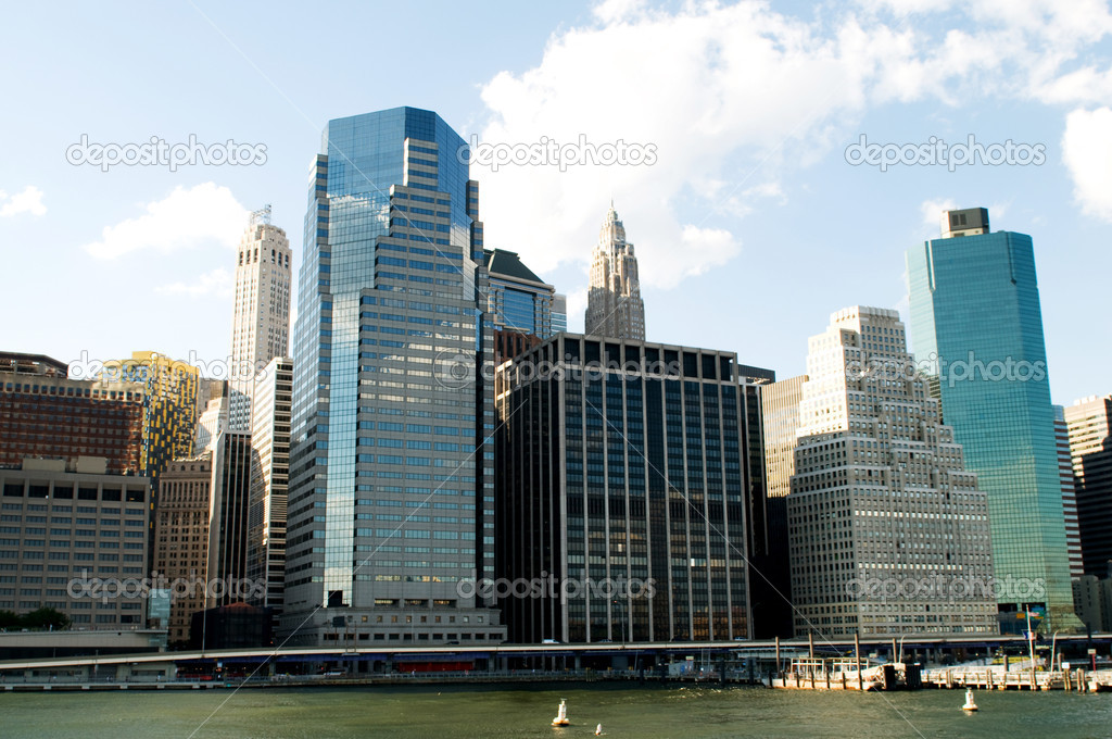New York city - 4 Sep - panorama with skyscrapers — Stock Photo #4639072
