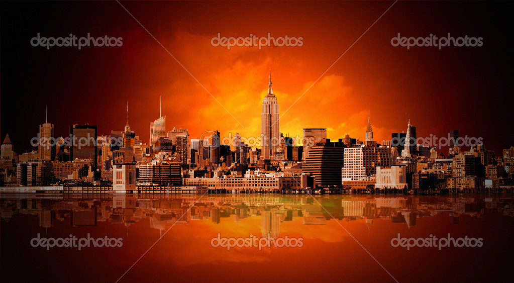 New York city panorama  Lizenzfreies Foto #5089764