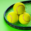 Tennis concept with balls and racket — Stock Photo #5090013