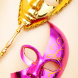 Ornate masks isolated on the white background — Stock Photo