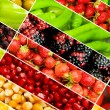 Collage of many different fruits and vegetables — Stock Photo #5090088