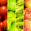 Collage of many different fruits and vegetables — Stock Photo #5090092