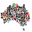 Royalty-Free Stock Photo: Australia continent made of woman shoes