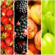 Collage of many different fruits and vegetables — Stock Photo #5098931