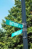 明るい日に道路標識 — ストック写真