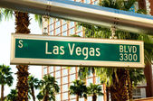 Street sign of Las vegas Boulevard — Stock Photo