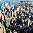 New York city panorama with tall skyscrapers — Stok fotoğraf