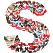 Letter S made of female shoes — Stock Photo
