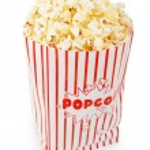 Popcorn bag isolated on the white background — Stock Photo #5105352