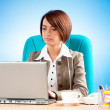 Young business woman working in the office — Stock Photo #5106531