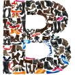 Font made of hundreds of shoes - Letter B — Stock Photo