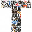 Font made of hundreds of shoes - Letter T - Foto Stock
