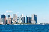 New York city - 4 Sep - panorama with skyscrapers — Stock Photo