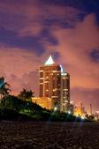 Panorama of the hotel near sea side — Stock Photo