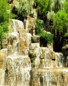 Tall waterfalls on the bright summer day — Стоковое фото