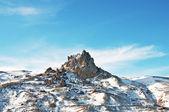 冬の雪の下で高い山 — ストック写真
