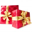 Stock Photo: Gift boxes isolated on the white background