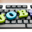 Royalty-Free Stock Photo: Employment concept with words on keyboard