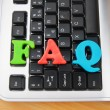 Royalty-Free Stock Photo: FAQ concept with letters on keyboard