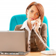 Young business woman working in the office — Stock Photo #5123778