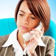 Young businesswoman talking on the phone — Stock Photo #5123813