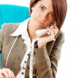 Young businesswoman talking on the phone — Stock Photo #5123833