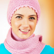 Nice looking woman in the warm clothing — Stock Photo #5124099