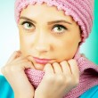 Nice looking woman in the warm clothing — Stock Photo #5124162