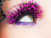 Woman eyes with stylish eyelashes — Stock Photo