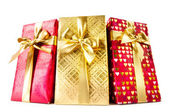 Gift boxes isolated on the white background — Foto Stock