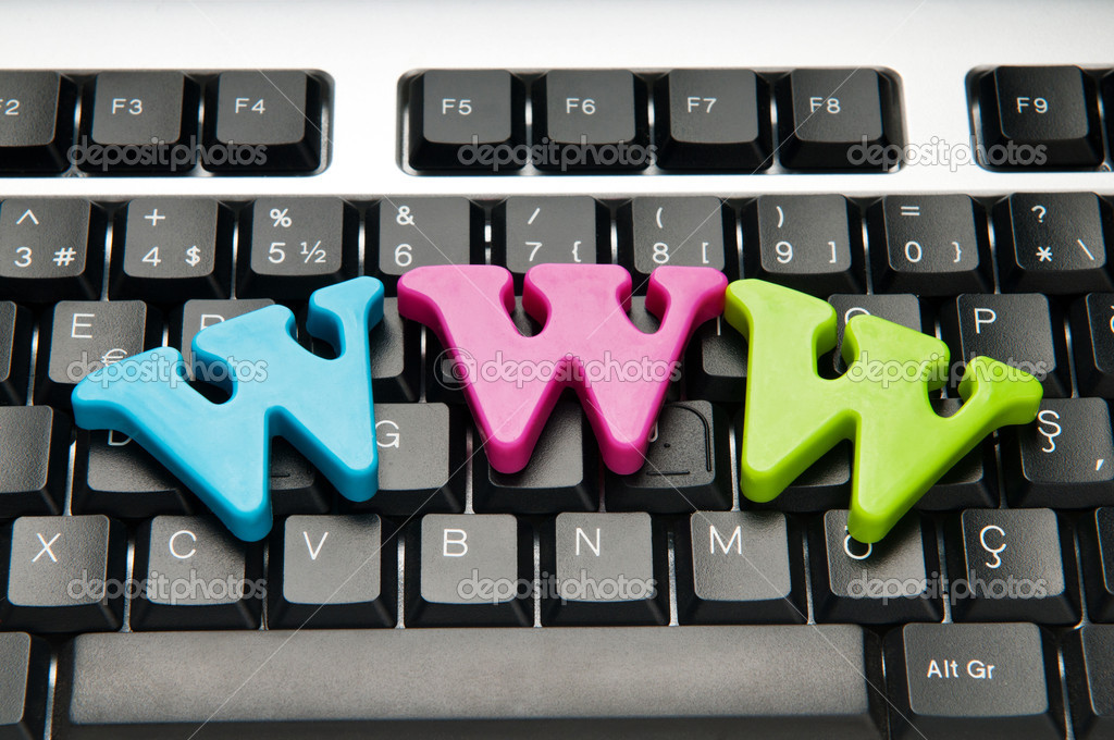 WWW letters on the keyboard  Stock Photo #5123027