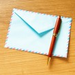 Mail concept with many envelopes on the table — Stock Photo