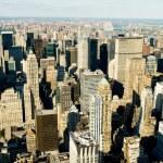 New york şehir panoraması ile yüksek gökdelenler — Stok fotoğraf #5132800