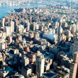 new york city panorama mit hohen wolkenkratzern — Stockfoto #5132802