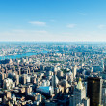 Панорама города Нью-Йорка с высокими небоскрёбами — Стоковое фото #5132828