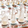 Stock Photo: Set of chess figures on the playing board